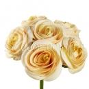 Букет из шести персиковых роз