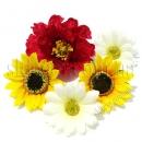 Головки полевых цветов